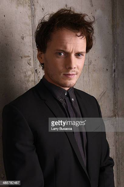 Actor Anton Yelchin from 5 to 7 poses for the 2014 Tribeca Film Festival Getty Images Studio on April 19 2014 in New York City