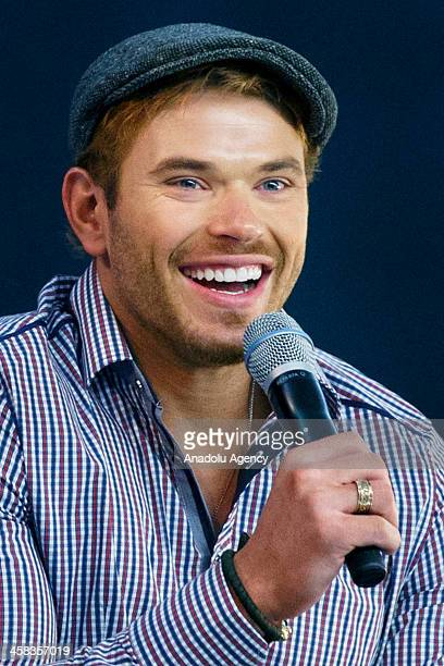 Actor Anton Zetterholm and Kellan Lutz discuss their latest film Edgar Rice Burroughs 'Tarzan' and answer questions of their fans at Apple Store...