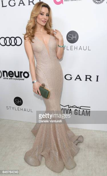 Actor Antonella Salvucci attends Bulgari at the 25th Annual Elton John AIDS Foundation's Academy Awards Viewing Party at on February 26 2017 in Los...