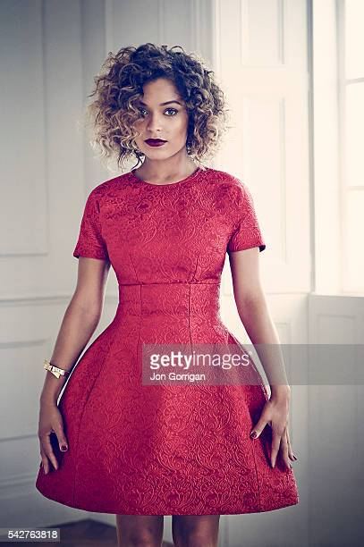 Actor Antonia Thomas is photographed for Harrods magazine on June 16 2013 in London England