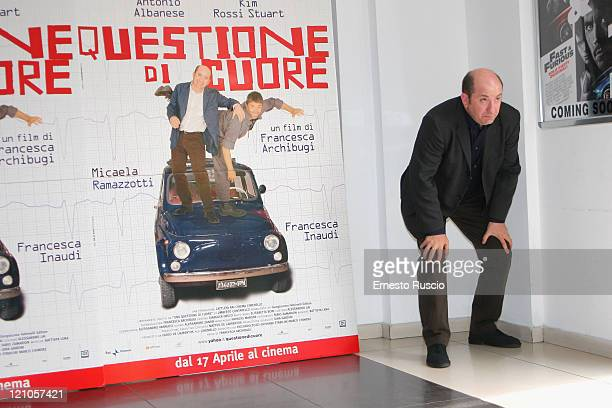 Actor Antonio Albanese attends 'Questioni Di Cuore' photocall at the Cinema Adriano on April 8, 2009 in Rome, Italy.