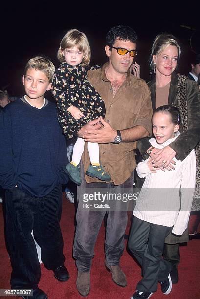 Actor Antonio Banderas, actress Melanie Griffith, daughter Stella Banderas, Melanie's son Alexander Bauer and Melanie's daughter Dakota Johnson...