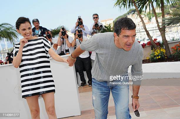 Actor Antonio Banderas and actress Elena Anaya attend The Skin I Live In Photocall at Palais des Festivals during the 64th Cannes Film Festival on...