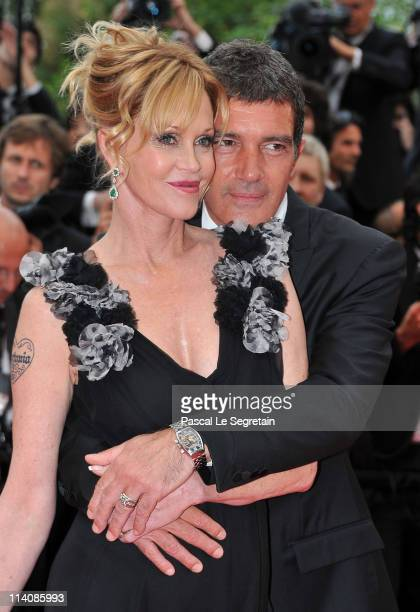 Actor Antonio Banderas and actress Melanie Griffith attends the Opening Ceremony at the Palais des Festivals during the 64th Cannes Film Festival on...