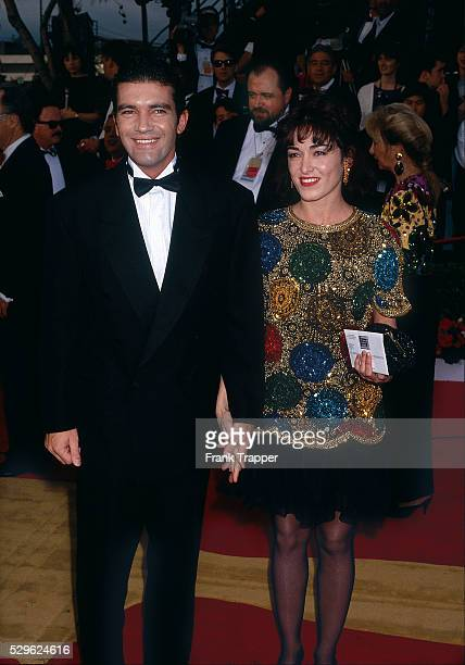 Actor Antonio Banderas and date Ana Leza arrive at the 1992 Academy Awards�� This photo appears in Frank Trapper's RED CARPET book on page 126