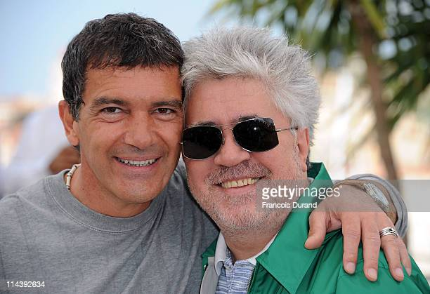 Actor Antonio Banderas and director Pedro Almodovar attend The Skin I Live In Photocall at Palais des Festivals during the 64th Cannes Film Festival...