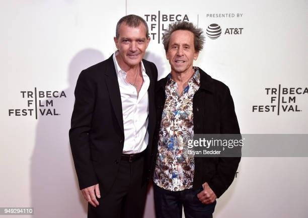 Actor Antonio Banderas and Executive Producer Brian Grazer attend the National Geographic premiere screening of 'Genius Picasso' on April 20 2018 at...