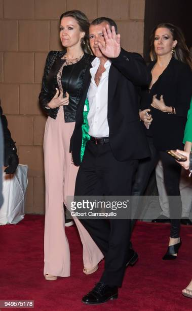 Actor Antonio Banderas and girlfriend Nicole Kempel arriving to the National Geographic premiere screening of 'Genius Picasso' during the 2018...