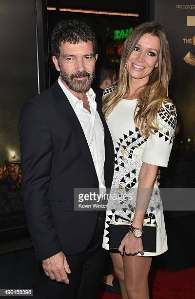 """Actor Antonio Banderas and Nicole Kimpel attend the Centerpiece Gala Premiere of Alcon Entertainment's """"The 33"""" during AFI FEST 2015 presented by..."""