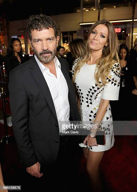 "Actor Antonio Banderas and Nicole Kimpel attend the Centerpiece Gala Premiere of Alcon Entertainment's ""The 33"" during AFI FEST 2015 presented by..."