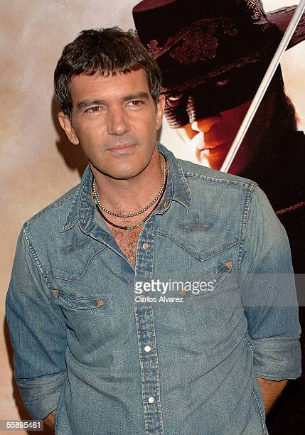 Actor Antonio Banderas attends a photocall for The Legend of Zorro at Hotel Villamagna on October 11 2005 in Madrid Spain