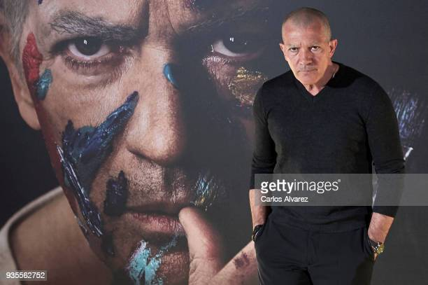 Actor Antonio Banderas attends 'Genius Picasso' photocall at Palace Hotel on March 21 2018 in Madrid Spain
