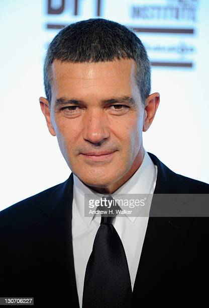 """Actor Antonio Banderas attends """"Puss in Boots"""" premiere during day 4 of the 2011 Doha Tribeca Film Festival at Katara Opera House 1 on October 28,..."""