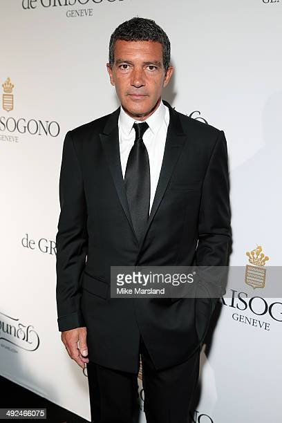Actor Antonio Banderas attends the De Grisogono dinner party in collaboration with Gyunel during Cannes film festival at Hotel du CapEdenRoc on May...