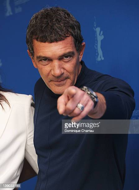 Actor Antonio Banderas attends the Haywire Photocall during day seven of the 62nd Berlin International Film Festival at the Grand Hyatt on February...