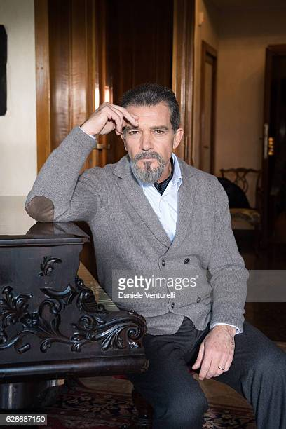 Actor Antonio Banderas attends 'The Music of Silence' by Michael Radford On set with Antonio Banderas and AMBI Media Group producers on November 30...