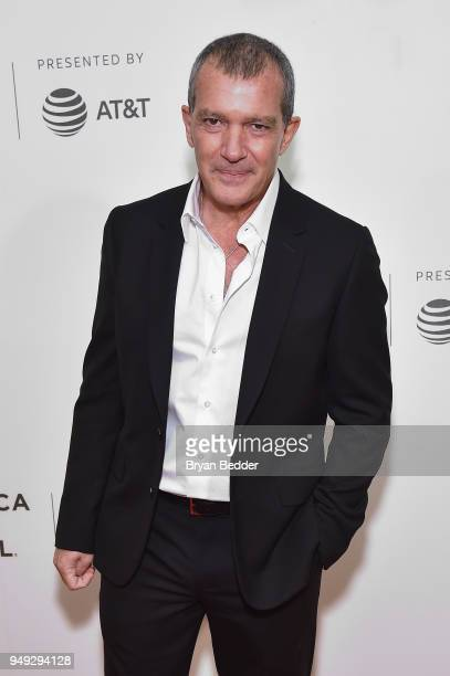 Actor Antonio Banderas attends the National Geographic premiere screening of 'Genius Picasso' on April 20 2018 at the Tribeca Film Festival in New...