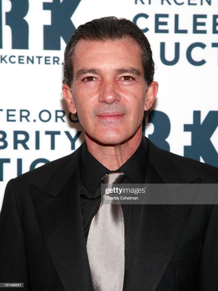Actor Antonio Banderas attends the Robert F. Kennedy Center for Justice and Human Rights 2012 Ripple of Hope gala at The New York Marriott Marquis on December 3, 2012 in New York City.
