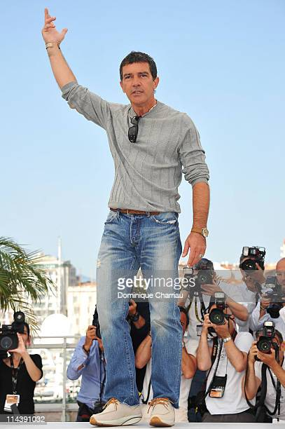 Actor Antonio Banderas attends The Skin I Live In Photocall during the 64th Cannes Film Festival at the Palais des Festivals on May 19 2011 in Cannes...