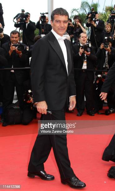 Actor Antonio Banderas attends the The Skin I Live In premiere at the Palais des Festivals during the 64th Cannes Film Festival on May 19 2011 in...