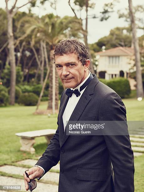 Actor Antonio Banderas is photographed for Self Assignment on May 15 2015 in Cannes France