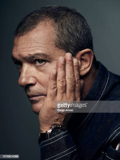 Actor Antonio Banderas is photographed for The Wrap on April 17 2018 in Los Angeles California