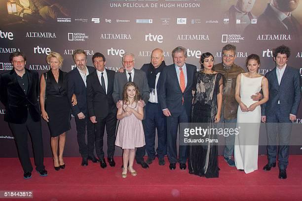Actor Antonio Banderas Minister of Education Inigo Mendez de Vigo musician Mark Knopfler actress Allegra Allen director Hugh Hudson actress...
