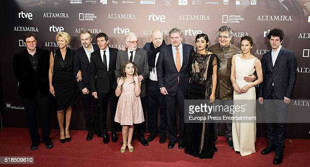 Actor Antonio Banderas Minister of Education Inigo Mendez de Vigo musician Mark Knopfler actress Allegra Allen director Hugh Hudson actress...