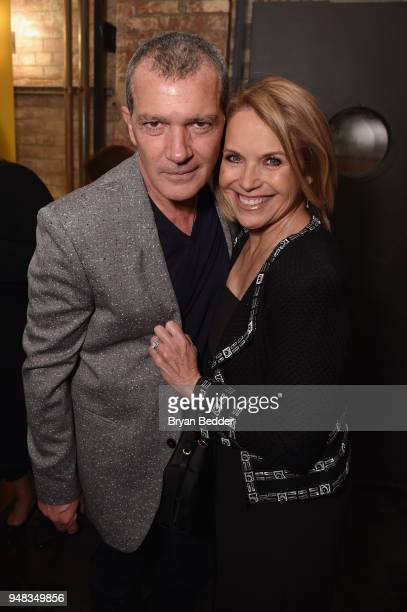 Actor Antonio Banderas of 'Genius Picasso' and correspondent and Executive Producer Katie Couric of 'America Inside Out With Katie Couric' attend...