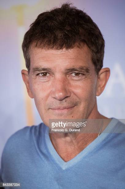 Actor Antonio Banderas poses at a photocall for the film 'The Music Of Silence' during the 43rd Deauville American Film Festival on September 6 2017...
