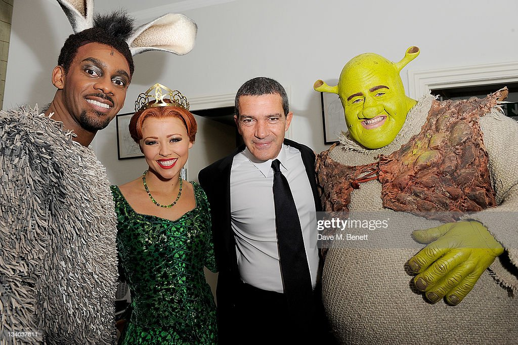 Shrek The Musical Meets Puss In Boots - Antonio Banderas Photocall : ニュース写真