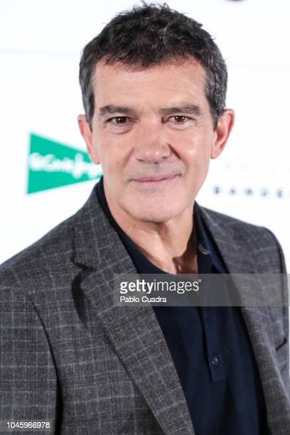 Actor Antonio Banderas presents the new Autumn/Winter 2018 campaign for El Corte Ingles store on October 5 2018 in Madrid Spain