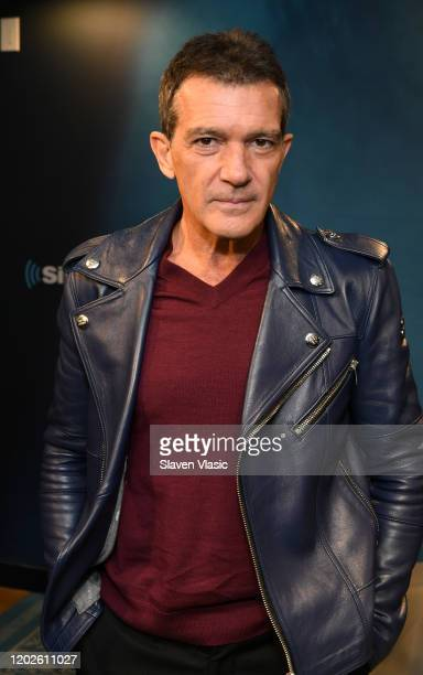 Actor Antonio Banderas visits Entertainment Weekly channel at SiriusXM Studios on January 28 2020 in New York City