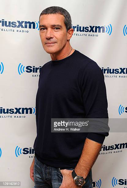 Actor Antonio Banderas visits SiriusXM Studios to promote his new movie The Skin I Live In on October 13 2011 in New York New York