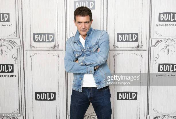"""Actor Antonio Banderas visits the Build Series to discuss his new film """"Pain and Glory"""" at Build Studio on September 27, 2019 in New York City."""