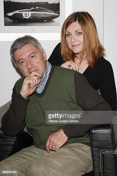 Actor Antonio Catania and actress Marina Massironi pose on March 25 2009 in Milan Italy