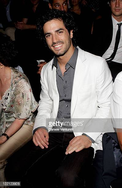 Actor Antonio Cupo attends the Dolce Gabbana fashion show as part of Milan Fashion Week Spring/Summer 2009 on June 21 2008 in Milan Italy