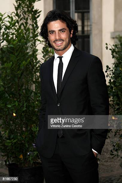 Actor Antonio Cupo attends Uomo Vogue 40th Anniversary Celebration Party as part of Milan Fashion Week Menswear Spring/Summer 2009 on June 22 2008 in...