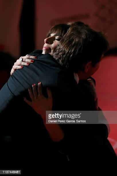 Actor Antonio de la Torre and actress Maribel Verdu attend '¿Que Te Juegas' premiere at the Cervantes Theater during the 22nd Malaga Film Festival on...