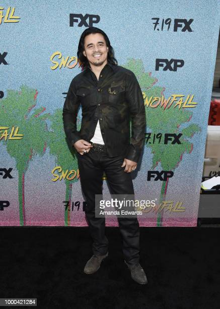Actor Antonio Jaramillo arrives at the premiere of FX's 'Snowfall' Season 2 at the Regal Cinemas LA LIVE Stadium 14 on July 16 2018 in Los Angeles...
