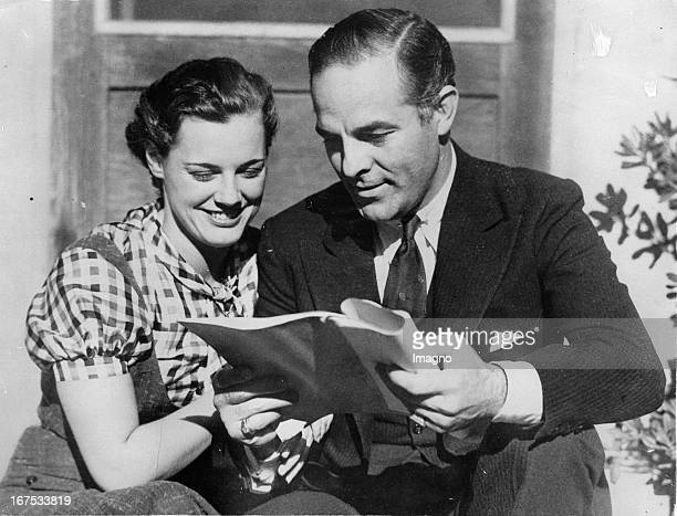 Actor Antonio Moreno and Eleanor Holm preparing for a film role Hollywood USA Photograph Schauspieler Antonio Moreno und Eleanor Holm bereiten sich...