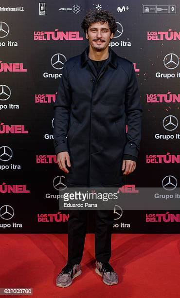 Actor Antonio Pagudo attends 'Los del Tunel' premiere at Capitol cinema on January 18 2017 in Madrid Spain