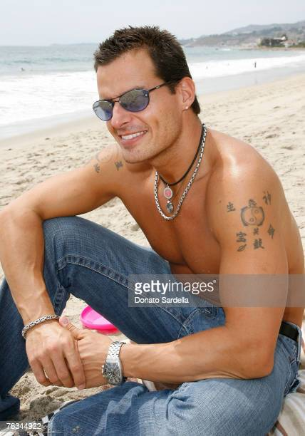 MALIBU CA AUGUST 25 Actor Antonio Sabato attends the French Connection's Kids connection to benefit The Art Of Elysium on August 25 2007 in Malibu...