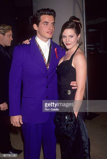 Actor Antonio Sabato Jr and actress Cari Shayne attend the Ninth Annual Soap Opera Digest Awards on February 26 1993 at the Beverly Hilton Hotel in...