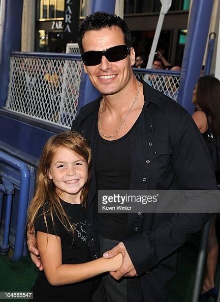 Actor Antonio Sabato Jr and daughter Mina attend the premiere Of Walt Disney Pictures' 'Secretariat' at the El Capitan Theatre on September 30 2010...