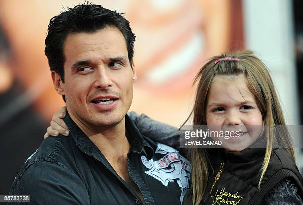Actor Antonio Sabato Jr and daughter Mina Bree arrive at the world premiere of the Hannah Montana The Movie at the El Capitan Theatre in Hollywood...