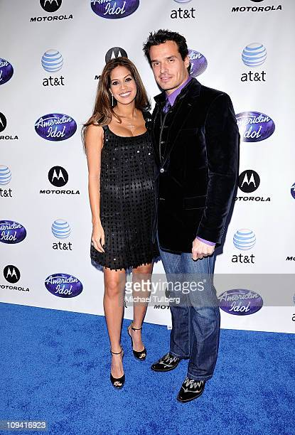 Actor Antonio Sabato Jr and girlfriend Cheryl Moana Marie arrive at Idol Prom The American Idol Season Ten Top 24 Debut event at the Roosevelt Hotel...