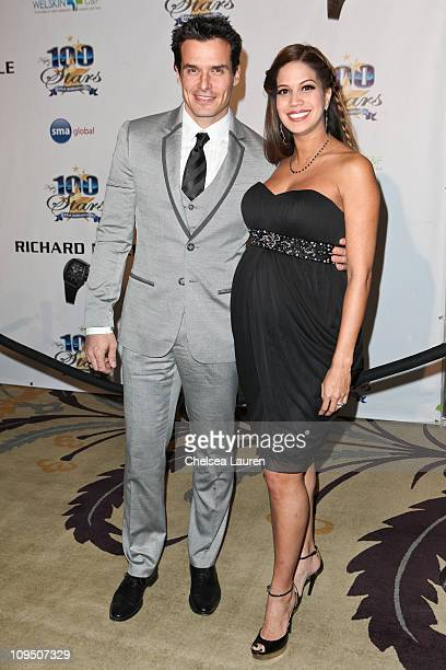 Actor Antonio Sabato Jr and girlfriend Cheryl Moana Marie Nunes arrive at the 21st Annual Night of 100 Stars Awards Gala at Beverly Hills Hotel on...