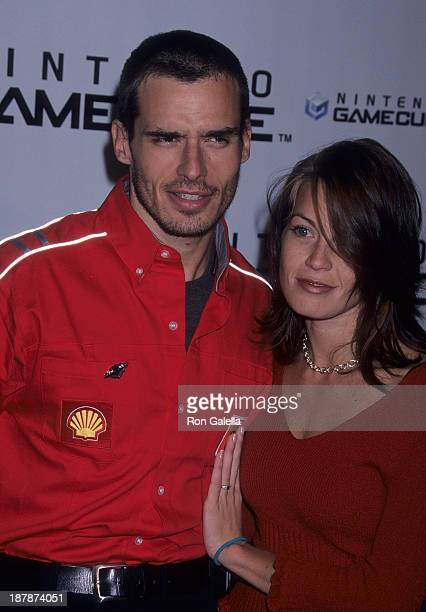 Actor Antonio Sabato Jr and girlfriend Kristin Rossetti attend Nintendo GameCube Launch Party on October 3 2001 at Hollywood Boulevard in Hollywood...