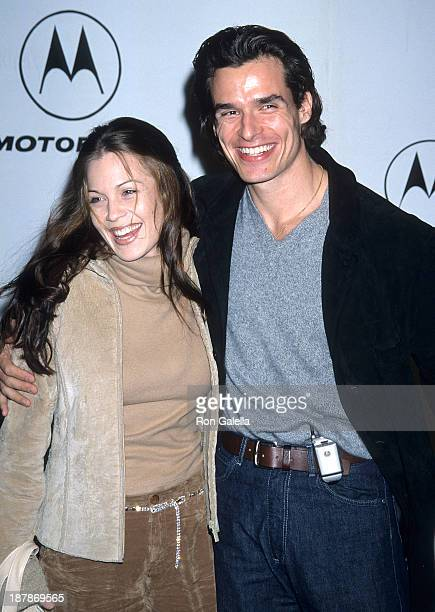 Actor Antonio Sabato Jr and girlfriend Kristin Rossetti attend Motorola's Second Annual Holiday Party on December 7 2000 at Dream in Hollywood...